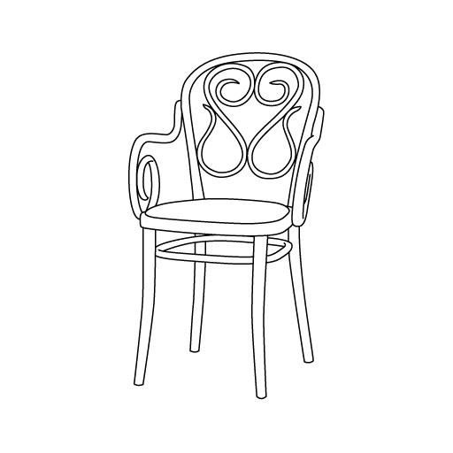 Armlehnstuhl 04 von Ton Stühle und Tische