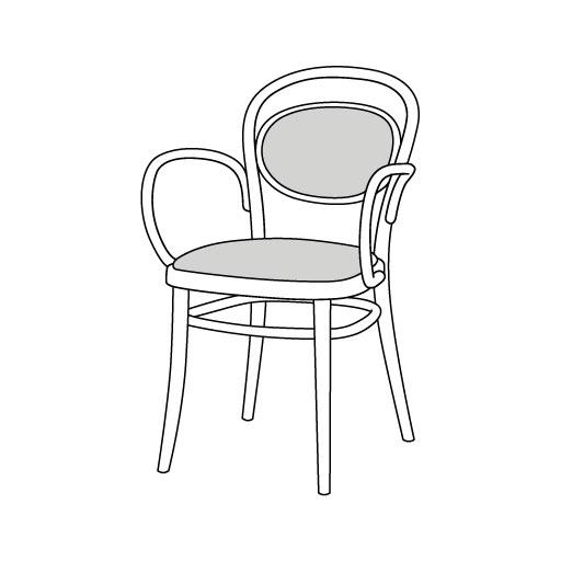 Armlehnstuhl 20 von Ton Stühle und Tische
