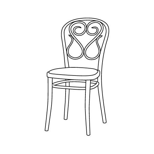 Stuhl 04 von Ton Stühle und Tische