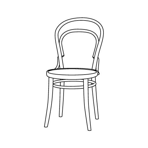 Stuhl 14 von Ton Stühle und Tische