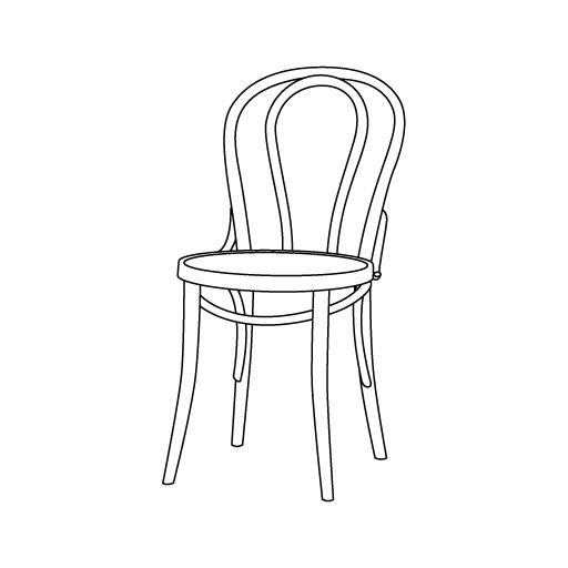 Stuhl 18 von Ton Stühle und Tische