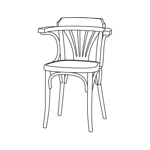 Stuhl 25 von Ton Stühle und Tische