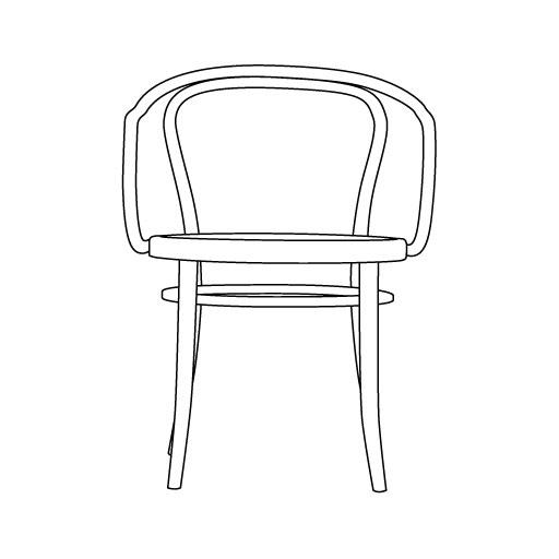 Armlehnstuhl 30 von Ton Stühle und Tische