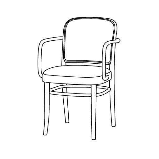 Armlehnstuhl 811 von Ton Stühle und Tische