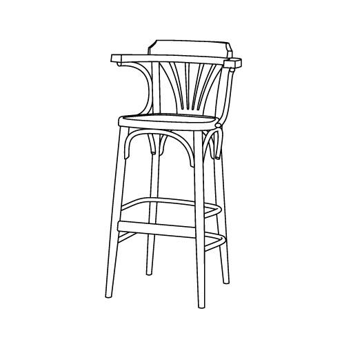 Barhocker 35 von Ton Stühle und Tische