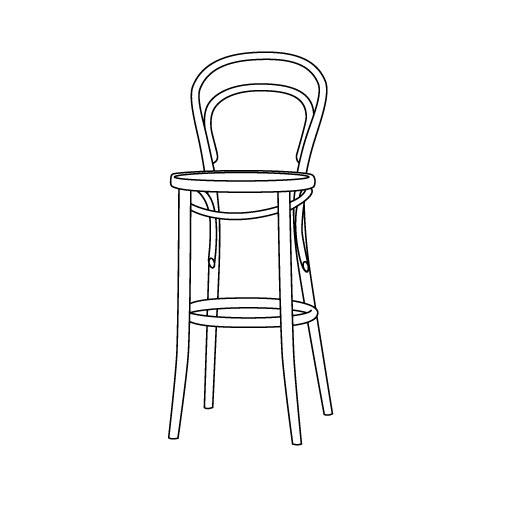 Barhocker 14 von Ton Stühle und Tische