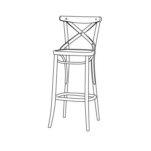 Barhocker 50 von Ton Stühle und Tische