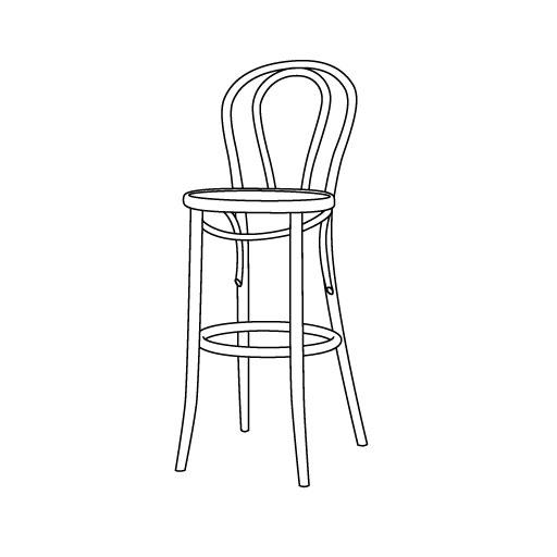 Barhocker 18 von Ton Stühle und Tische