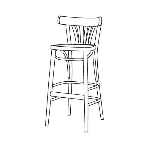 Barhocker 56 von Ton Stühle und Tische