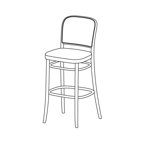 Barhocker 811 von Ton Stühle und Tische