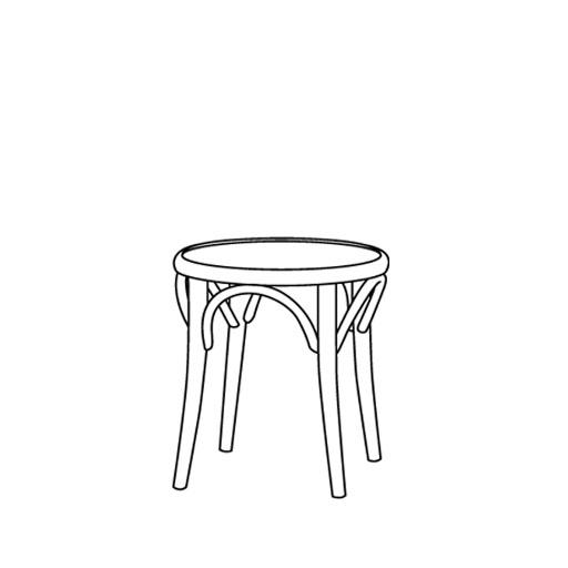 Hocker 60 von Ton Stühle und Tische