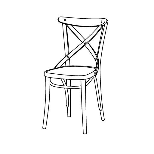Stuhl 150 von Ton Stühle und Tische