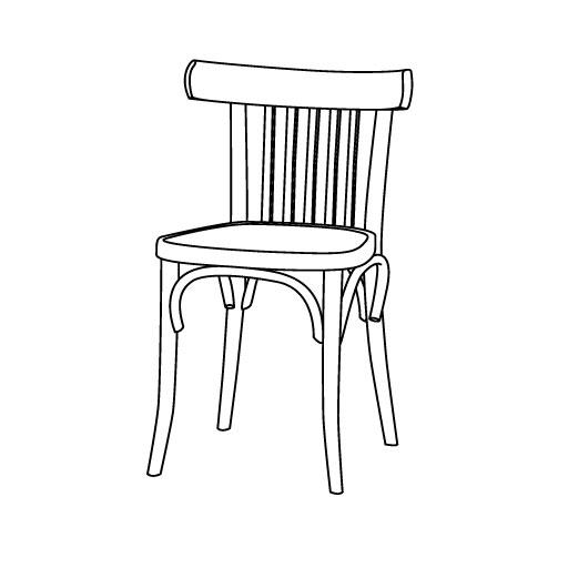 Stuhl 763 von Ton Stühle und Tische