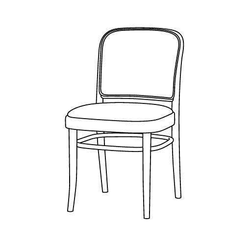 Stuhl 811 von Ton Stühle und Tische